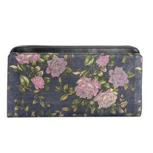 Rag & Bone floral double zip clutch bag